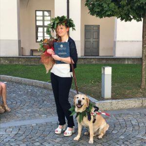 Chiara Laurea Giurisprudenza Insubria Ipovedente Varese cane guida