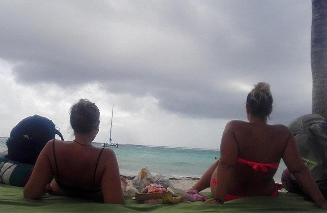 Sorelle Cavaletti un anno in giro per il mondo Akumal, mar dei Caraibi in Messico