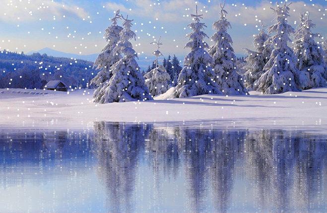 attesa natalizia paesaggio innevato