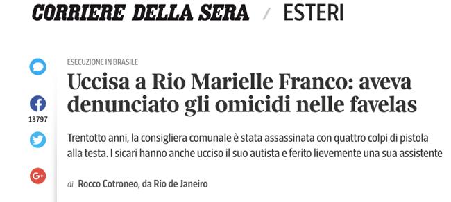 Marielle Franco Corriere della Sera