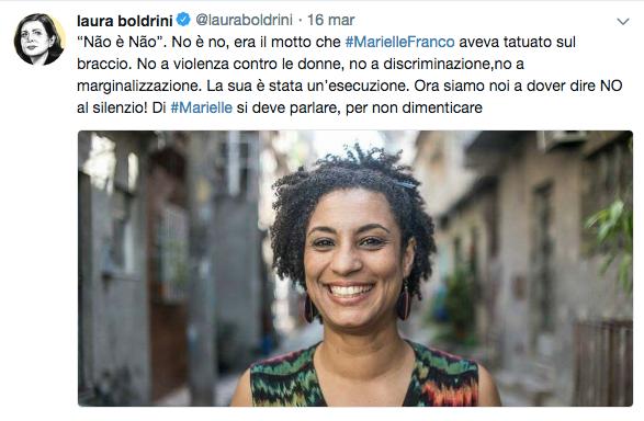 Marielle Franco Laura Boldrini