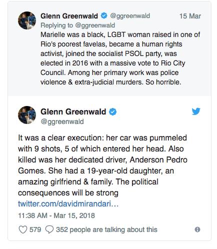 Marielle Franco Glenn Greenwald