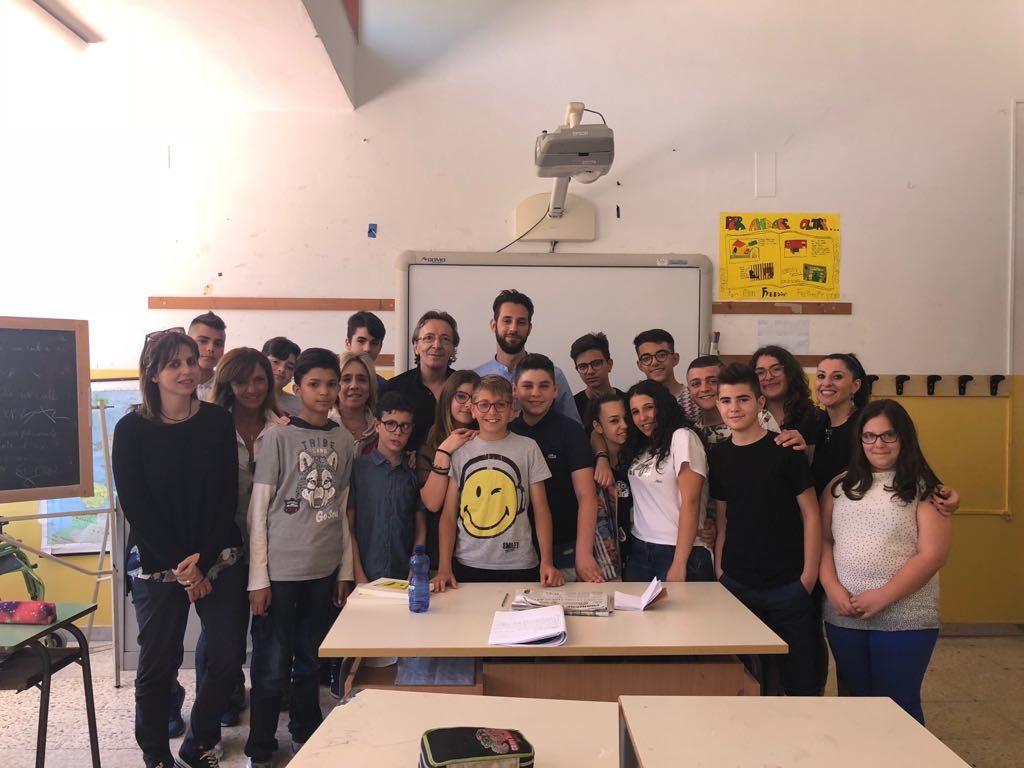 Claudio Bottan e Federico Corona a istituto comprensivo Portella della Ginestra (4)