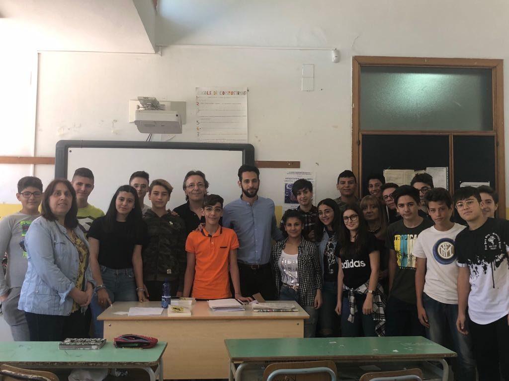 Claudio Bottan e Federico Corona a istituto comprensivo Portella della Ginestra (5)
