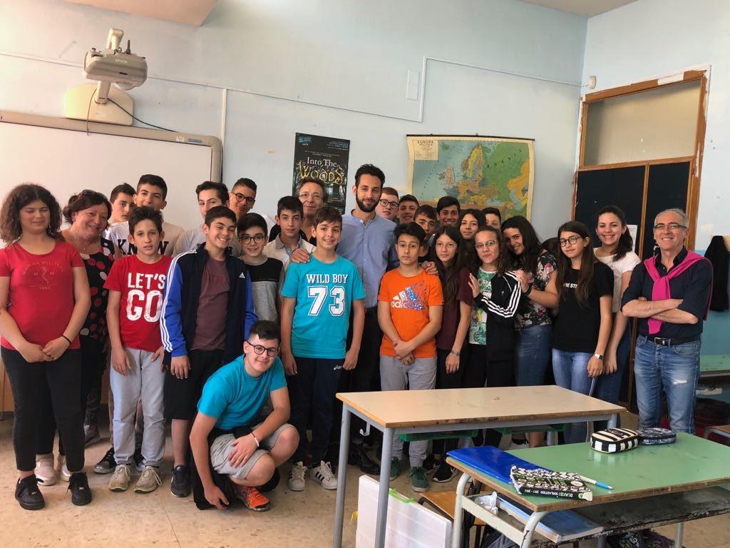 Claudio Bottan e Federico Corona a istituto comprensivo Portella della Ginestra (7)