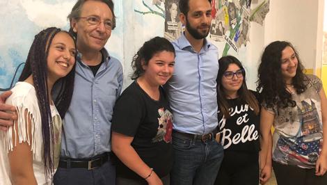 Claudio Bottan e Federico Corona a istituto comprensivo Portella della Ginestra Vittoria