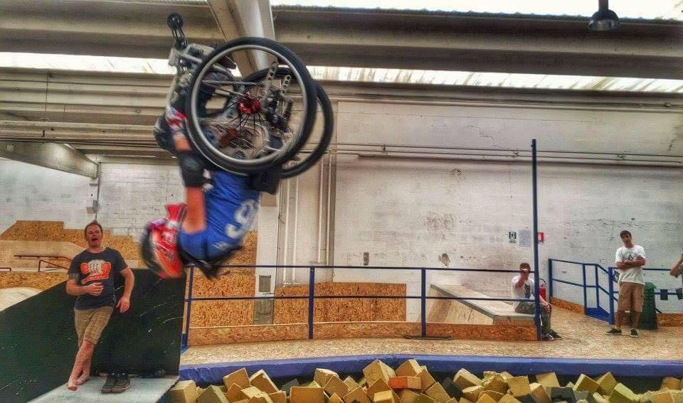 Ilaria Naef salto della morte in carrozzina