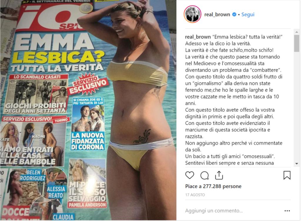 Emma Marrone Lesbica Io Spio Instagram