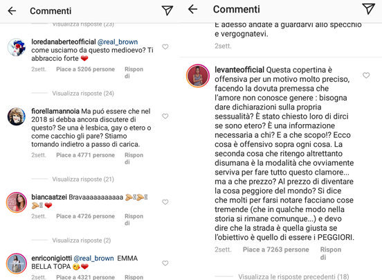 Emma Marrone Lesbica post instagram