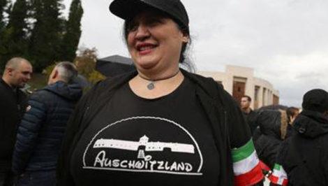 Auschwitzland Selene Ticchi Marcia su Roma Predappio