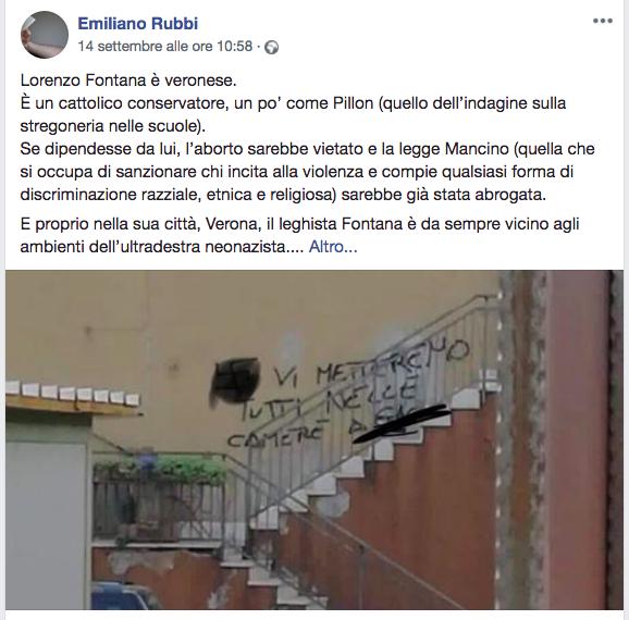 Emiliano Rubbi Lorenzo Fontana Gay