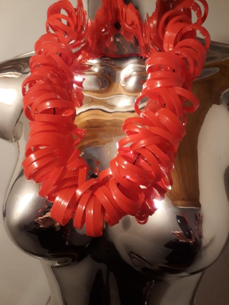 MoRa, Museum of Recycled Art Roma collana lenti occhiali