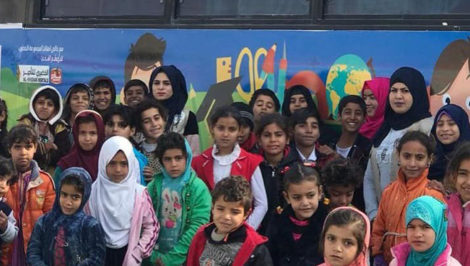 Hope Bus il bus della speranza di Iraqi Children Foundation in Iraq