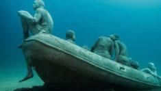 La zattera di Lampedusa di Jason Taylor deCaires 117 morti in mare immigrati