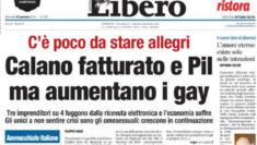 Libero Calano fatturato e Pil ma aumentano i gay