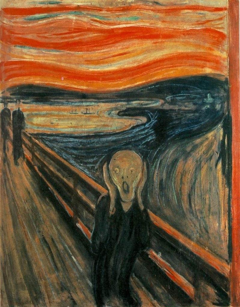 Skrik, ( trad, L'Urlo) di Edward Munch, 1893-1910