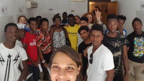 Unicef e minori migranti in Italia risultati di un anno di lavoro foto Un gruppo di U-Reporters di Palermo ©UNICEF2018C.Saturnino