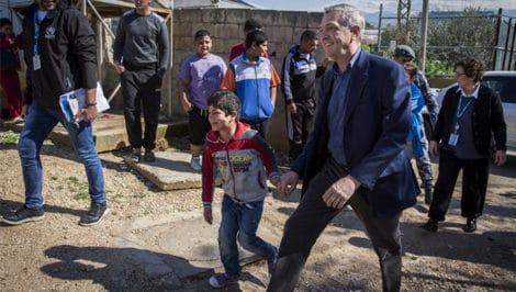unhcr Alto commissario delle nazioni unite per i rifugiati Filippo Grandi Libano
