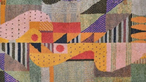 Bauhaus lavoro tessitura Gunta Stölzl