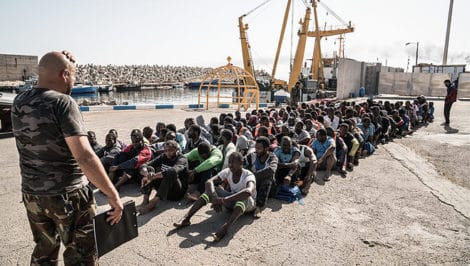 Migranti incarcerati in Libia foto Amnesty International