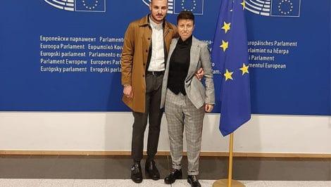 Vector Giada Anania Joshua Bochicchio a Bruxelles Parlamento Europeo