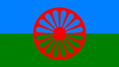bandiera rom documentario Romanista viaggio rom dall'italia all'india con gennaro spinelli di luca vitone