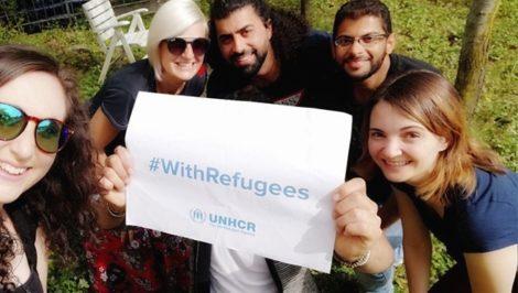 campagan unhcr siproimi rifugiati cooperativa intrecci selfie