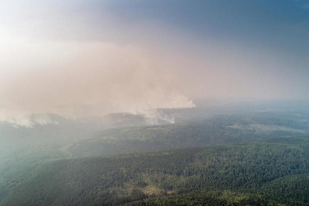 incendi in Siberia nella Grande Foresta del Nord Russia