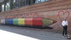 Urka Davide D'Angelo murales matita arcobaleno lgbti ravenna liceo