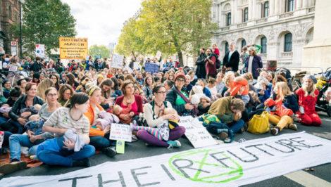 Extintinction Rebellion Londra protesta cambimento climatico