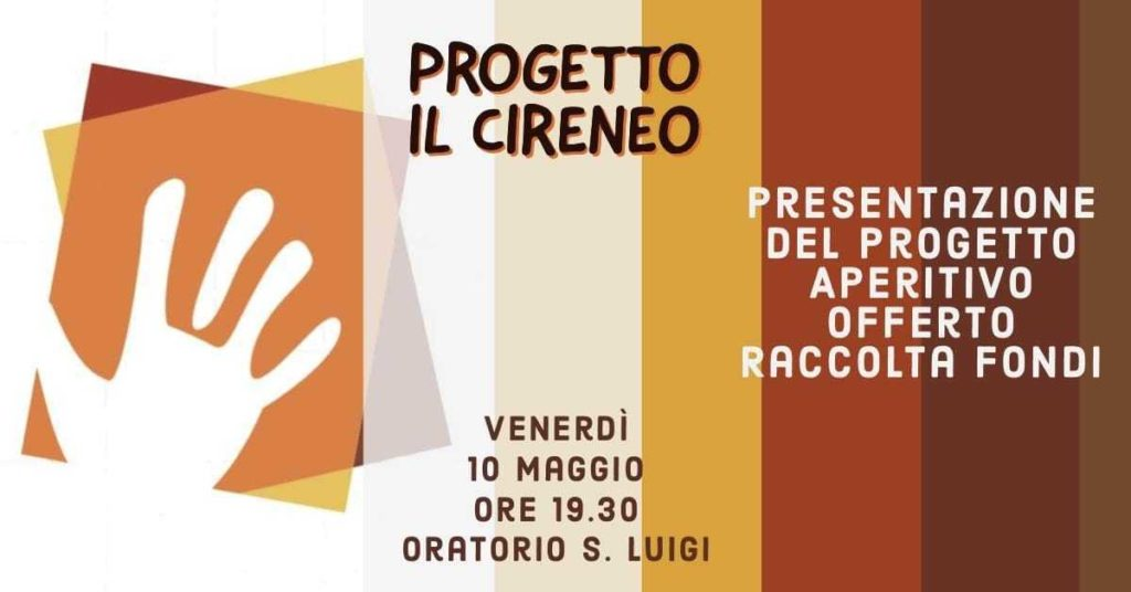 Il Cireneo Paolo Pazzaglia oratorio San Luigi Busto Arsizio progetto volontariato