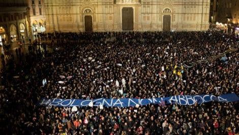 Sardine Bologna Italia manifesto