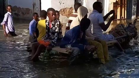Somalia in nondazioni sfollati Hiraan e Bakool nella Somalia centrale città di Beledweyne