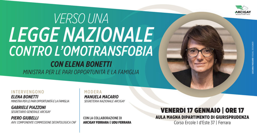 Omofobia, Arcigay incontra la Ministra Bonetti: verso una legge nazionale contro l'omotransfobia