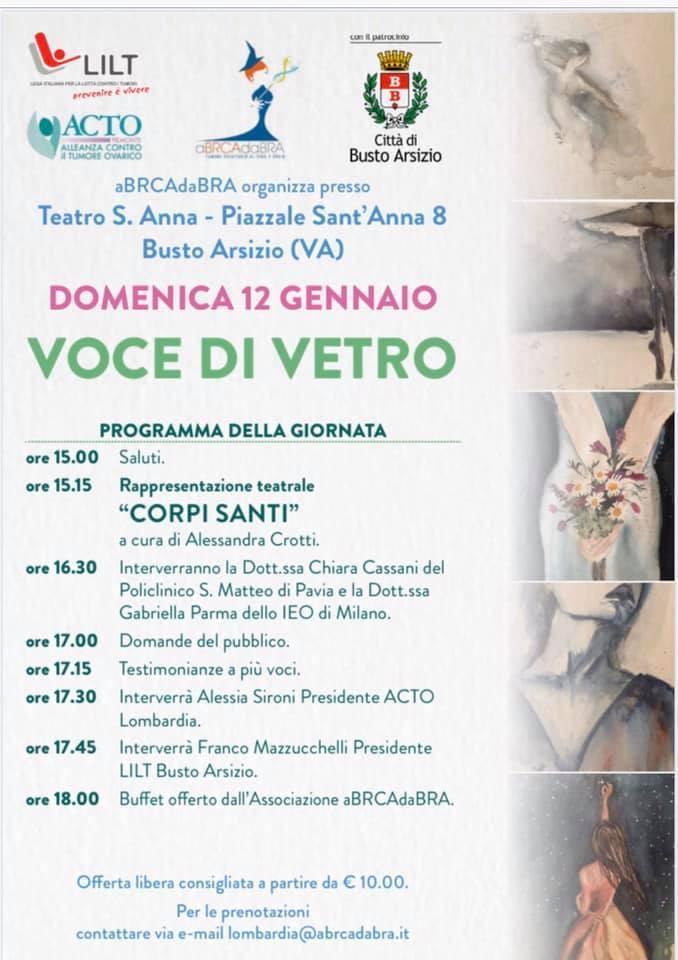 evento convegno per cancro ovarico a Busto Arsizio a cura di aBRCAdaBRA