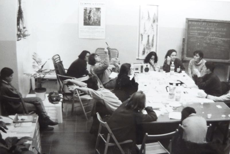 1990, Bologna: riunione preparatoria alla Prima Settimana Lesbica