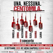 Una. Nessuna. Centomila concerto a favore delle donne vittime di violenza 19 settembre 2020, RCF Arena, Campovolo, Reggio Emilia