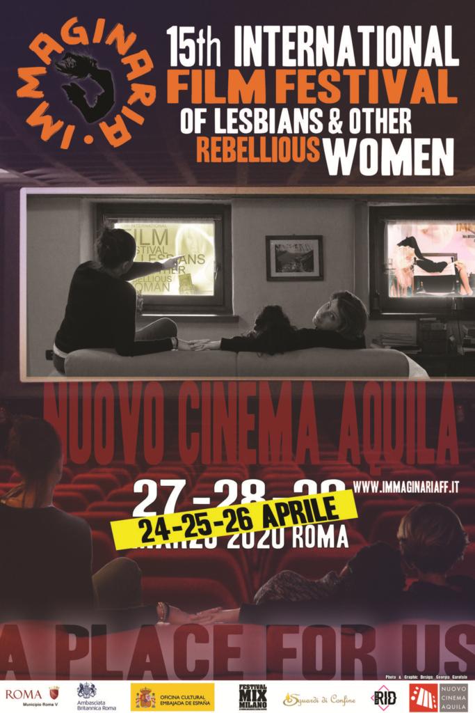 Locandina Immaginaria Film Festival Roma 2020 aprile Cinema Aquila