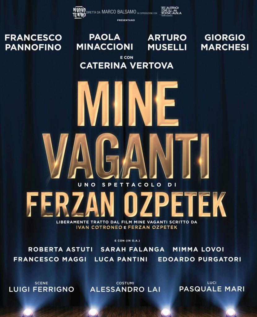 Locandina dello spettacolo teatrale Mine Vaganti