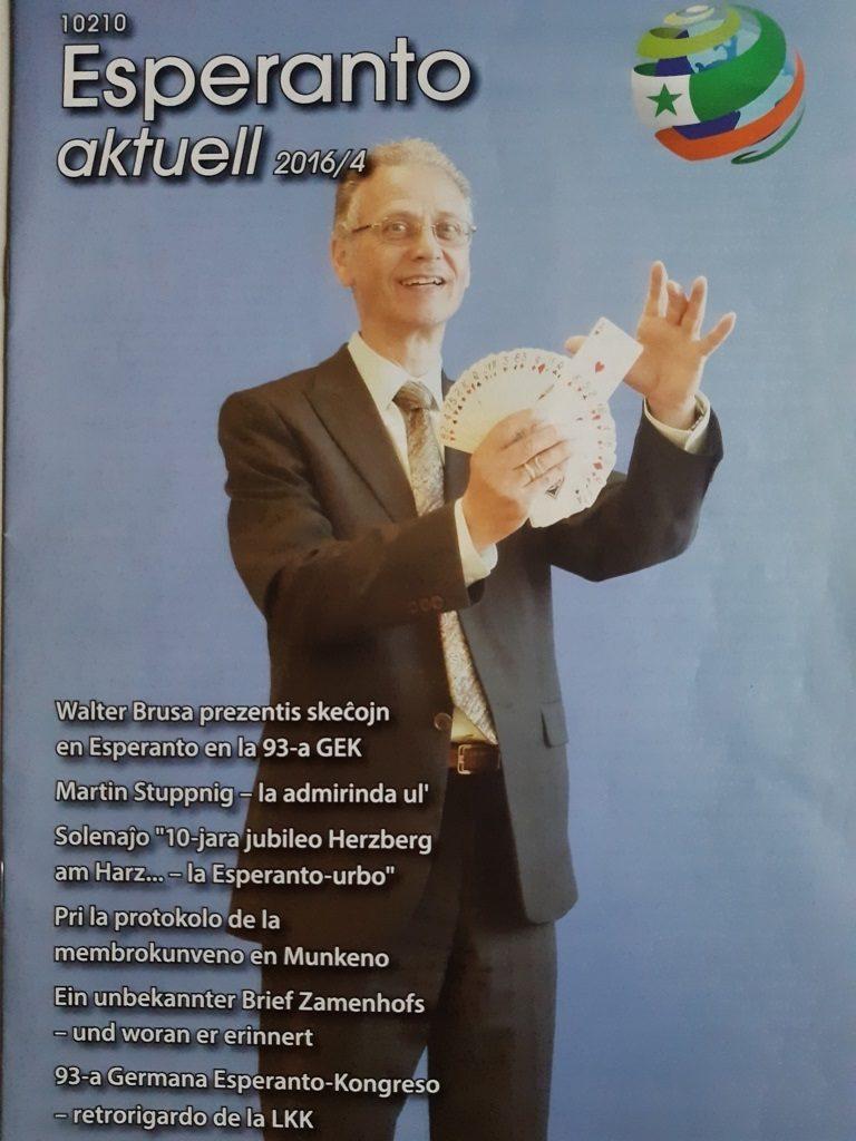 Walter Brusa cittadino tedesco di origini italiane prestigiatore e scrittore Esperanto
