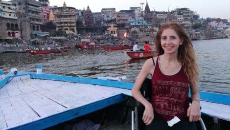 Simona Anedda in viaggio con Simona
