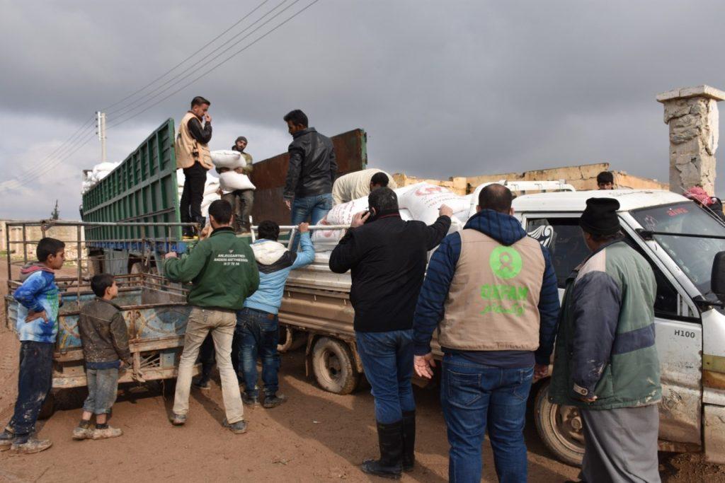 Distribuzione cibo. Dania Kareh - Oxfam