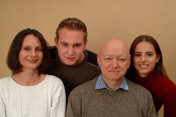 Rosanna, il figlio Magnus, Günther, la figlia Pia