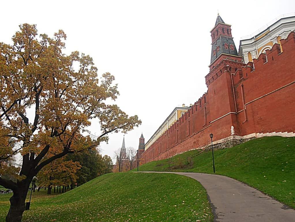 Mura esterne del Cremlino. Mosca, Russia