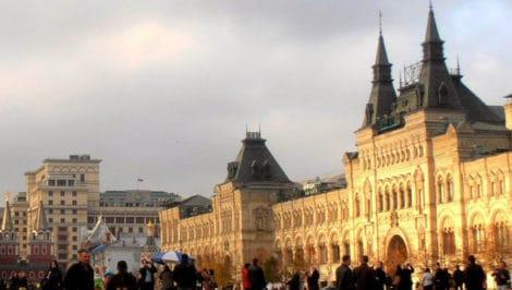 Piazza Rossa_ sulla destra, i magazzini GUM_ Mosca Russia