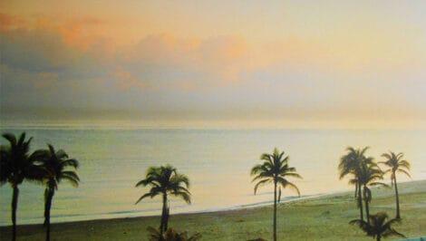 Veduta di una spiaggia nei pressi dell'Habana, Cuba