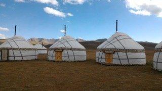 Tende yurta, lago Son Kul - Kirghizistan