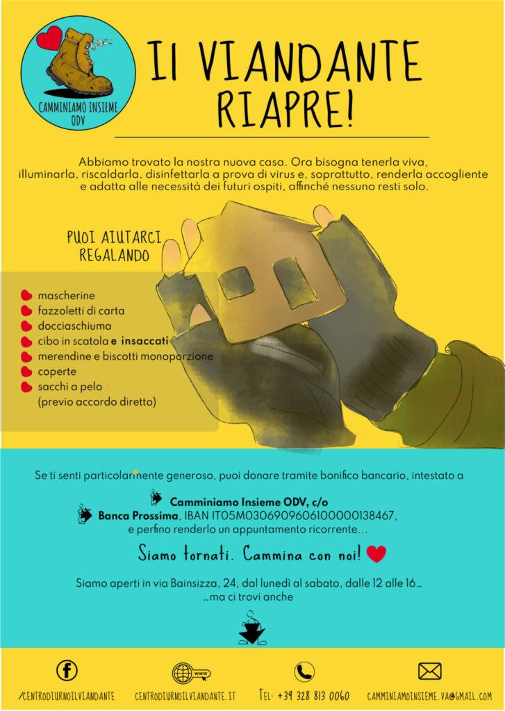 Riapre Il Viandante: un aiuto per San Valentino ai senza fissa dimora di Varese